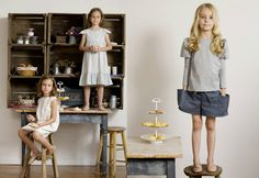 Cecily, Kathleen, and Beatrix. Cute styling!