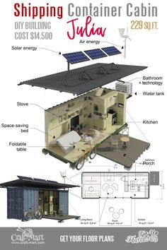Ideas Shipping Container House Plans Cabin for Cute Small House Floor Plans (A-Frame Homes, Cabins . The Plan, How To Plan, Container Home Designs, Small Cabin Plans, Small House Floor Plans, Small Cabins, A Frame Cabin, A Frame House, Ideas De Cabina