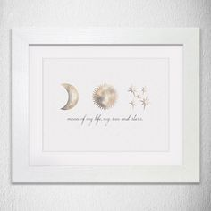 Framed Personalised Game Of Thrones Inspired Moon Of My Life My Sun And Stars Print | Daenerys Taragaryen & Drogo Quote Print | Love Quote