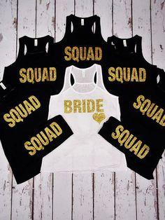 Squad Glitter - Bulk Bridal Party Tank Tops Premium