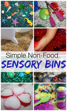 Non Food Sensory Bin Fillers Must Try Sensory Play Ideas Take a look at all the awesome non food sensory bin fillers that are just as simple to find and set up! Although we use our fair share of rice here, I have become sensitive to those who have ethical concerns with playing with food ...