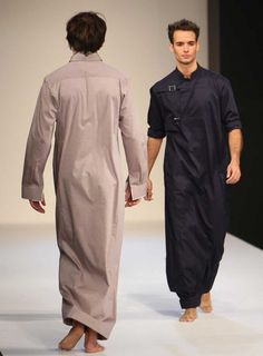 Ive always been a BIG fan of heavily draped clothing for men! (designer Hatem Alakeel)