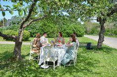 Retro tea party in the garden in June 2013