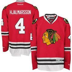 Mens Chicago Blackhawks Niklas Hjalmarsson Reebok Red Premier Player Jersey