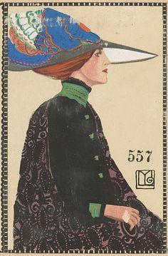 Fashion (Mode) Maria Likarz (Austrian, 1893–1971) . Published by Wiener Werkstätte, 1911