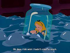 Disney Alice in Wonderland #gif #tears #jar