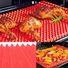 Red Pyramid Bakeware Pan Nonstick Silicone Baking Mats Pads Moulds Cooking Mat Oven Baking Tray Sheet Kitchen Tools New Healthy Chef, Healthy Cooking, Microwave In Kitchen, Microwave Oven, Baking Utensils, Kitchen Utensils, Four Micro Onde, Silicone Baking Mat, Silicone Bakeware