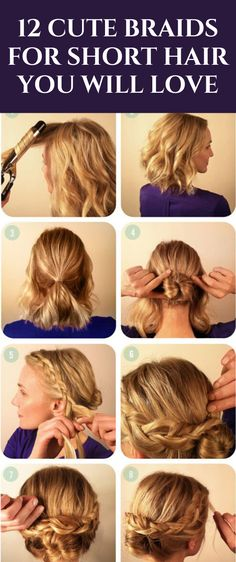 Believe it or not, there are many easy and cute braids for short hair! Dare to be daring and absolutely rock the utmost cutest braid for short hair! #hairbraids Loose Hairstyles, African Hairstyles, Short Hairstyles For Women, Straight Hairstyles, Braided Hairstyles, Loose Waves Hair, Loose Braids, Braids For Short Hair, Short Hair Styles