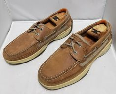 a82ace3d5a SPERRY TOP-SIDER MEN S LEATHER BOAT SHOES SIZE 8 1 2 M  fashion