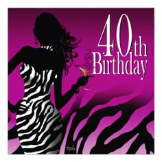 40th Birthday Invitations For Her 125 Best 40 Images Ideas Party 18th Adult