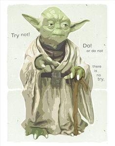 Starwars poster  Star Wars Yoda Poster  Yoda Wisdom  by aswegoArts, $17.50
