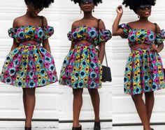 Jupe Ankara crop top et jupe  jupe print africaine