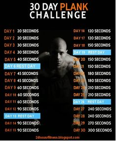 30 DAY PLANK CHALLENGE ~ 24 hour fitness