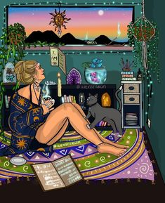 It's not the books you read or the classes that you take that make you a witch it's the life you live. I'm a huge fan of reading books, taking classes and gathering information i… Creation Art, Stoner Art, Witch Art, Hippie Art, Art Graphique, Dope Art, Psychedelic Art, Aesthetic Art, Art Inspo