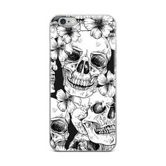 Cool mexican skull heads party celebration design iPhone Skin by imaginationandinspiration Mexican Skulls, Skull Head, Iphone Skins, Skin Case, High Quality Images, 6s Plus, Iphone Case Covers, Ipad Case, Decorative Throw Pillows