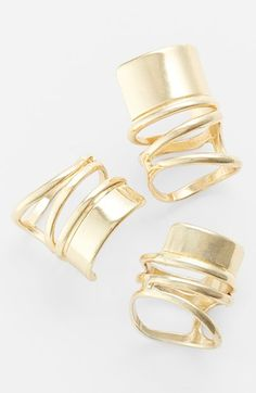 Leith Bold Spiral Band Ring Set available at #Nordstrom