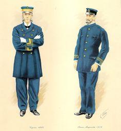 C. Urbez, Marina Mercante. Capitán 1864 - Primer Maquinista 1914, respectivamente.