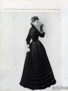 Jacques Fath 1947 Photo Harry Meerson, Evening Gown