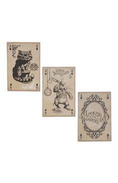 3 Pack Alice In Wonderland Magnets