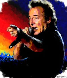 Bruce Springsteen by Allen Glass - Bruce Springsteen Painting ...