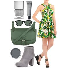 Tropical Punch!!! by eshakti on Polyvore featuring Prada, Topshop, Ray-Ban and Nails Inc.