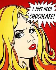I just need chocolate ...! #JacquieBoyd #PopArt #comics #buongiorno #goodmorning #buenosdias #chocolate #ciocolate #cioccolato #colazione #desayuno #breakfast #needchocolate #blondie #blondehair #blondegirl #girl #rubia #greeneyes #art #artists #justme by m4r1c4_0l1v4