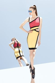 Herve Leger by Max Azria Resort 2013 Collection - The next year is full of fashionable surprises for daring pieces lovers. Boldness and elegance are the buzzwords in the newest Herve Leger by Max Azria resort 2013 collection. Max Azria, Mtv, Irina S, Herve Leger Dress, Fashion Show, Fashion Design, High Fashion, Fashion Today, Fashion Weeks