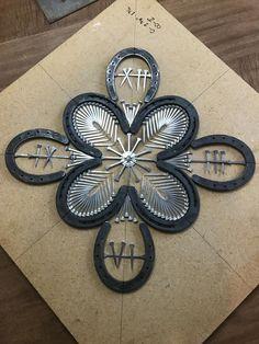 welding art projects for beginners Welding Art Projects, Welding Crafts, Metal Projects, Metal Crafts, Blacksmith Projects, Horseshoe Projects, Horseshoe Crafts, Horseshoe Art, Horseshoe Ideas