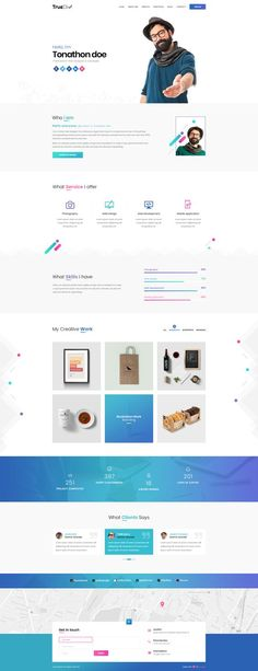 I liked how he carried the color scheme throughout the page. But I especially like how he explicitly lists out his skills, instead of just his projects. TrueDiv Portfolio by True-Div Design Sites, Cv Design, Web Design Tips, Page Design, Flat Design, Modern Design, Design Layouts, Graphic Design, Portfolio Website Design