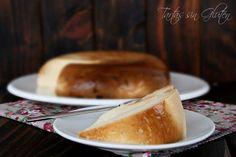 Flan de queso hecho en el microondas. ¡Mira qué delicia!