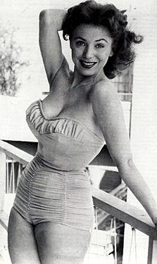6ee027dc96b 1950s bikinis Meg Myles Vintage Bikini, Retro Hairstyles, Swimsuits, Bikinis,  Swimwear,