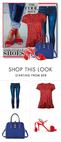 """""""Embellished Shoes"""" by brendariley-1 ❤ liked on Polyvore featuring One Green Elephant, Proenza Schouler, Aquazzura and embellishedshoes"""