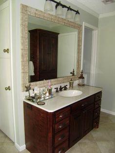 Bathroom Mirror Java slate mirror, java finish, 23 x 23 - handmade | a well, metals and