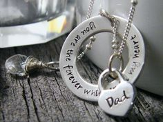you are forever the whisper in my heart---in memory necklace