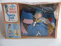 Holly Hobbie Doll Tote Bag Mint In Box 1974 by LydiasPost on Etsy My Childhood Memories, Childhood Toys, Retro Toys, Vintage Toys, Cartoon Books, Holly Hobbie, Old Toys, 40th Birthday, Vintage Christmas