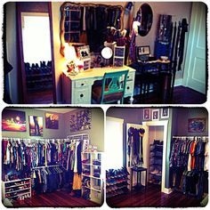 Our spare room / walk in closet // should do this in our spare room @Mary Neely This is what I meant when I said the extra bedroom could be a closet.....