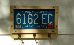 License plate key holder. #handmade