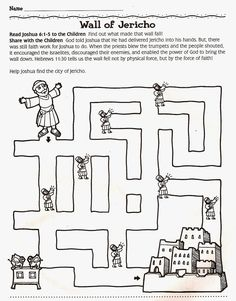 1000 images about bijbel jozua voor kleuters bible for Walls of jericho coloring page