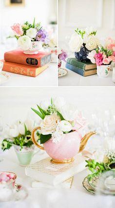 Ideas originales para hacer centros de mesa con libros