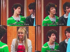 """The flirting between Nick and Hannah in the Jonas Brothers episode: 18 Things Only """"Hannah Montana"""" Fans Will Remember Jonas Brothers, Hannah Montana Funny, Hannah Montana Quotes, Hannah Montana Tv Show, Old Disney Shows, Old Disney Channel, Zack Y Cody, Phineas Y Ferb, Funny Disney Memes"""