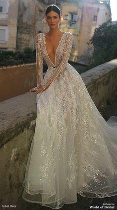 Inbal Dror 2019 Wedding Dresses – World of Bridal 2019 – Sommer Hochzeit Trend 2019 Sexy Wedding Dresses, Bridal Dresses, Bridesmaid Dresses, Baby Girl Dresses, Dresses Dresses, Lace Wedding, Inbal Dror Wedding Dress, Dramatic Wedding Dresses, Beaded Wedding Dresses