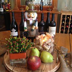 Wine Tasting party centerpiece