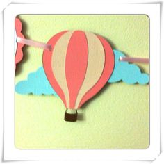 Hot air balloon banner its a girl banner baby shower by NiuDesigns, $22.00
