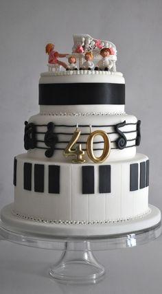 -◀ Piano Cakes, Music Cakes, Cupcakes, Cupcake Cakes, Bolo Musical, Piano Recital, Birthday Cakes For Women, Specialty Cakes, Cake Boss