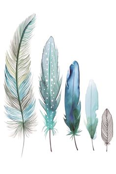 New tattoo feather ideas watercolor painting Ideas Watercolor Tattoo Feather, Feather Drawing, Feather Painting, Feather Art, Ink Painting, Watercolor Flowers, Watercolor Paintings, Painting Tattoo, Feather Illustration