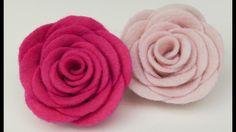 How to make Felt roses I Easy felt flower - YouTube