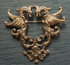 Peruzzi Griffin  Sterling Silver Florence Antique Pin