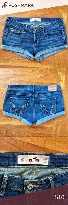 Hollister Jean Denim Shorts Super cute, just a little too short for me! Hollister Shorts Jean Shorts