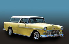 1955 Chevrolet Nomad wagon caught cruising at the Riverside Show n Go, California 1955 Chevrolet, Chevrolet Bel Air, Chevy Classic, Classic Cars, Chevy Vehicles, Chevy Nomad, Station Wagon, Car Manufacturers, Hot Cars