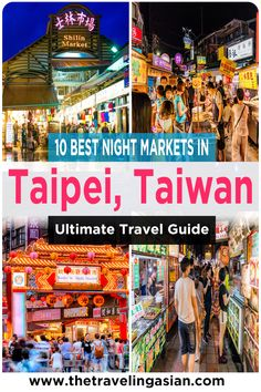 Visiting a Taiwan Night Market is a must do event whenever you visit Taiwan. However with so many night markets around, just how do you choose? Fortunately I can help you out. Here are the 10 best night markets you must visit when you ever visit Taipei, Taiwan. #Taiwan #Taipei #Asia #Travel #NightMarket Taipei Travel Guide, Taiwan Travel, Asia Travel, Travel Advice, Travel Guides, Travel Tips, Beach Trip, Beach Travel, Taipei Taiwan